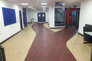property maintenance services - college refurbishment of flooring