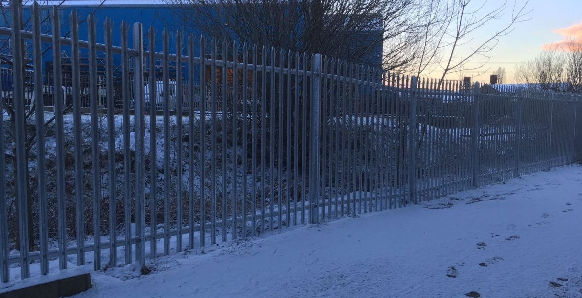 Stretch of Palisade Fencing Installed