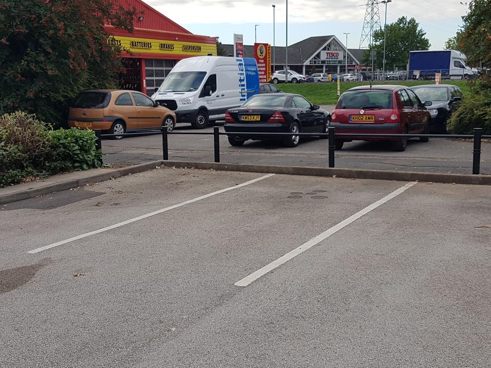 Car Park Spaces Rails
